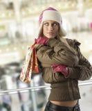 圣诞节去的购物 免版税库存照片