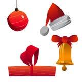 圣诞节反对收集 免版税库存照片