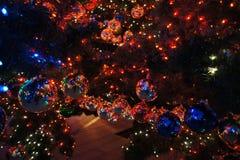 圣诞节反射 免版税库存照片