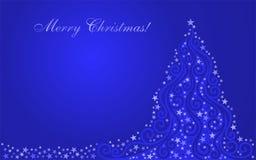 圣诞节发光了风格化结构树 库存例证