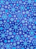 圣诞节发光的快活的雪花 库存例证