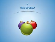 圣诞节发光的泡影明信片 库存图片