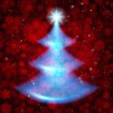 圣诞节发光的结构树 假日模板 EPS 10向量 免版税库存图片