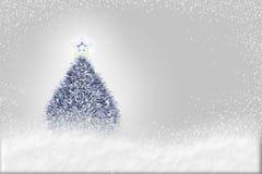 圣诞节发光的结构树 向量例证