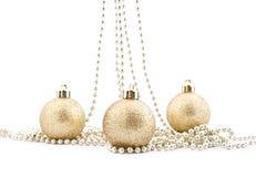 圣诞节发光结构树的装饰集 免版税库存照片