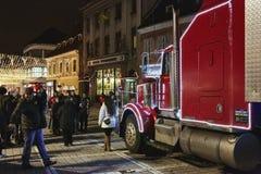 圣诞节可口可乐卡车 图库摄影