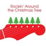 圣诞节吉他向量 免版税库存照片