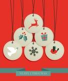 圣诞节吊标签销售集 免版税库存图片