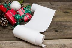圣诞节名单 图库摄影