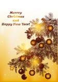 圣诞节向量 免版税库存图片