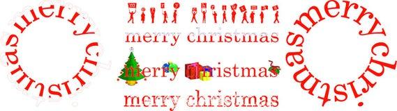 圣诞节命名例证 免版税库存照片