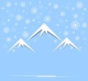 圣诞节和与山和天空的新年度 库存照片