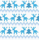 圣诞节和冬天无缝的背景 库存照片