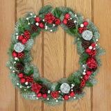 圣诞节和出现花圈 免版税库存图片