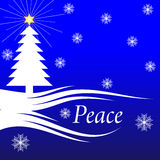 圣诞节和平 免版税库存图片