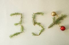 圣诞节和新年专辑35%折扣促进销售 免版税图库摄影