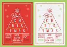 圣诞节和新年传单 免版税图库摄影