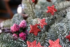 圣诞节和新年假日背景 库存图片