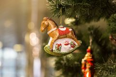 圣诞节和新年假日背景 免版税图库摄影