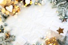 圣诞节和新年假日背景 Xmas贺卡 男孩节假日位置雪冬天 库存图片
