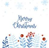 圣诞节和新年元素,您的设计的海报 向量例证