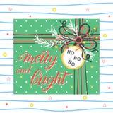 圣诞节和新年印刷术 库存例证