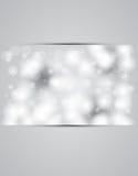 圣诞节和新年天空降雪的横幅 免版税库存图片