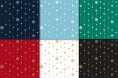 圣诞节和新年好样式集合 寒假样式 免版税库存图片