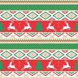 圣诞节和新年好样式 无缝传统 免版税库存照片