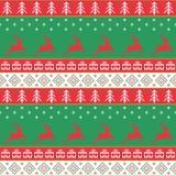 圣诞节和新年好样式 无缝的传统ornam 库存照片