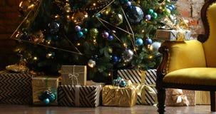 圣诞节和新年室内装璜 影视素材