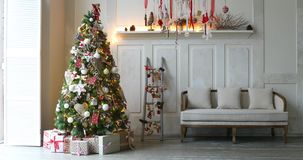 圣诞节和新年室内装璜 股票录像