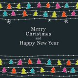 圣诞节和新年度看板卡 库存图片