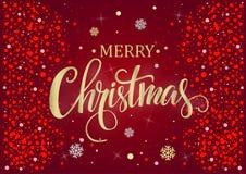 圣诞节和新年度红色背景 库存照片