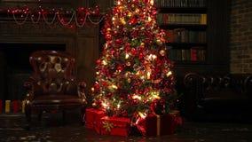 圣诞节和新年度背景 股票录像