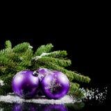 圣诞节和新年度边界 图库摄影