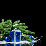 圣诞节和新年度边界 库存图片