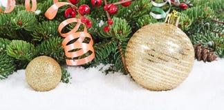 圣诞节和新年度边界 库存照片
