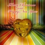 圣诞节和新年度问候 免版税库存照片