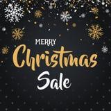 圣诞节和新年快乐打折销售例证横幅 库存图片