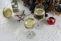 圣诞节和新年构成 库存照片