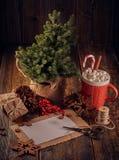 圣诞节和新年构成 库存图片