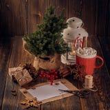 圣诞节和新年构成 免版税库存图片
