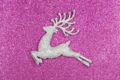 圣诞节和新年牡鹿 免版税库存图片