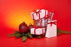 圣诞节和新年购物 免版税图库摄影