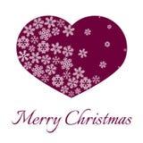 圣诞节和新年雪花明信片 向量例证