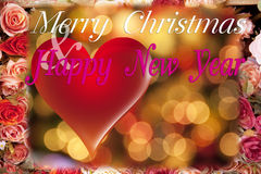 圣诞节和新年卡片。 库存照片