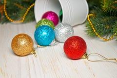 圣诞节和新年度背景 库存照片
