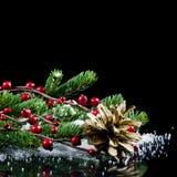 圣诞节和新年度边界 免版税库存照片