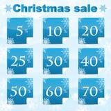 圣诞节和新年度销售额 免版税图库摄影